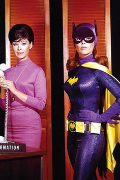 Above, Yvonne Craig as Barbara Gordon and her alter ego, Batgirl. Yvonne Craig, The Original Batgirl by Armand Vaquer One of the nicest. Yvonne Craig, Barbara Gordon, Batwoman, Dc Batgirl, Batman Y Robin, Batman 1966, Batman Cast, Gordon Batman, Sexy Cartoons