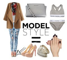 """What do models wear?"" by rfaizaxx ❤ liked on Polyvore featuring WithChic, Christian Louboutin, MICHAEL Michael Kors, Static Nails, Calvin Klein Underwear and Miss Selfridge"