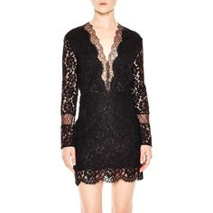 Sandro Megan Lace Dress ($300) ❤ liked on Polyvore featuring dresses, black, sandro dress, sandro, lace dress, lacy dress and lace cocktail dress