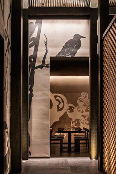 Restaurant Lounge, Restaurant Concept, Brickell Miami, Yabu Pushelberg, Japanese Artwork, Global Design, Aesthetic Design, Stone Flooring, Shenzhen