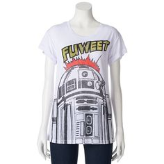 Represent your love for Star Wars when you wear this juniors' Mighty Fine Star Wars R2D2 boyfriend tee.