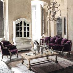 Sillón de terciopelo violeta Montpensier | Maisons du Monde