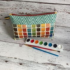 Art Supply Bag Art Supply Pouch Small Pouch Art Pouch by AuntHenri