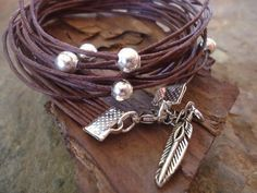 Hey, I found this really awesome Etsy listing at https://www.etsy.com/listing/81598564/pearly-in-dark-brown-wrap-bracelet-with