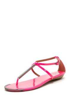Saw this sandal in a post today that I read!! Super cute for a pop of color!