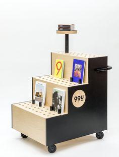 A mobile library for Adobe's Magazine. Nomadic Furniture, Kids Furniture, Furniture Design, Interactive Walls, Interactive Installation, Mobile Library, Booth Design, Signage Design, Design Design