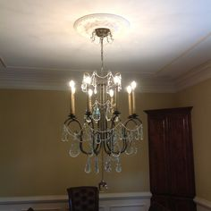 Gorgeous Victorian Style Chandelier Installed For A Customer Te