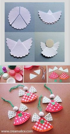 Easy Christmas Crafts For Toddlers, Xmas Crafts, Christmas Projects, Paper Crafts, Diy Christmas Paper Decorations, Diy Christmas Ornaments, Christmas Angels, Sign Language, Simple Christmas Crafts
