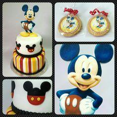 Cake y Galletas Maria/Rellenas Decoradas Mickey #pritycakes #PrityCakes #fondantcakes #edibleprintsoncake #galletamaria #galletasmariadecoradas #mickeymouse #disney #disneymickey