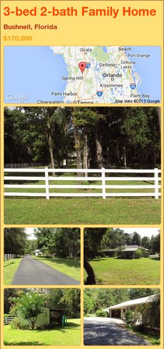 3-bed 2-bath Family Home in Bushnell, Florida ►$170,000 #PropertyForSale #RealEstate #Florida http://florida-magic.com/properties/82559-family-home-for-sale-in-bushnell-florida-with-3-bedroom-2-bathroom