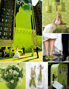 Have a green wedding all around. Find inspiration in the refreshing shades of green for your wedding decor, and be an eco-chic bride by i. Wedding Themes, Wedding Blog, Wedding Colors, Wedding Styles, Dream Wedding, Wedding Day, Wedding Stuff, Green Wedding Dresses, Green Wedding Shoes