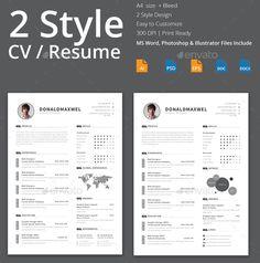 50 Plantillas para el Curriculum Vitae #CV #Resume