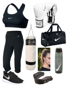 """""""Boxing"""" by courtney-leisa ❤ liked on Polyvore featuring NIKE, Everlast, Shock Doctor, women's clothing, women, female, woman, misses and juniors"""