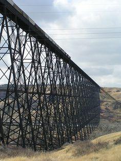Lethbridge Viaduct, over Oldman River [1907/1909, Ontario - Canada]