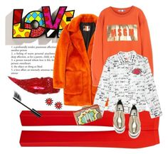 """""""L O V E"""" by natcatt ❤ liked on Polyvore featuring Romeo Britto, Charlotte Tilbury, MSGM, Chanel, KOTUR and colorful"""