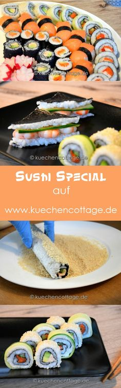 Gro es Sushi Special Video K chencottage Shrimp Recipes, Salmon Recipes, Rice Recipes, Snack Recipes, Recipes Dinner, Crockpot Recipes, Soup Recipes, Vegetarian Recipes, Chicken Recipes