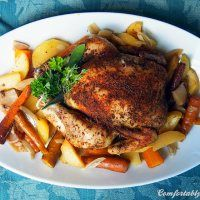 Busy Weeknights Still Mean Good Food: Slow Cooker Roasted (Whole) Chicken and Root Vegetables | Comfortably Domestic
