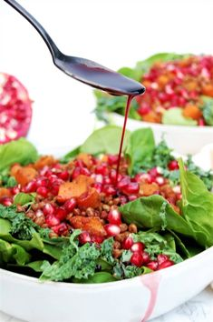 Pomegranate Lentil Butternut Salad - Nutrition to Fit
