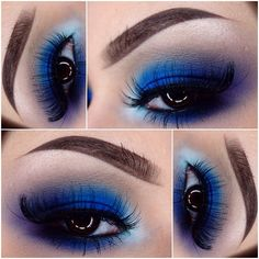 Cobalt blue eye-shadow
