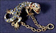 A 16th Century Italian gold pendant .  I'm in love with this fine fierce fellow.