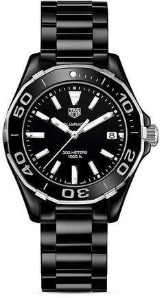 acc2279c5d9 Tag Heuer Stainless Steel and Ceramic Aquaracer Watch