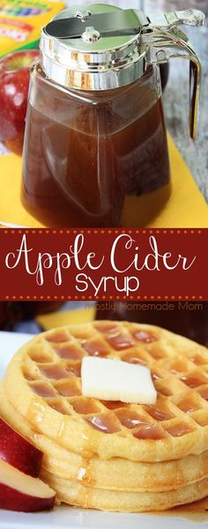 Apple Cider Syrup - Make a batch of this stove top Apple Cider Syrup to serve over yummy pancakes or waffles - the perfect breakfast companion this fall! #EggoBTSTarget #ad