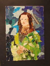 Kunst og handverk med TE: Mona Lisa i collage
