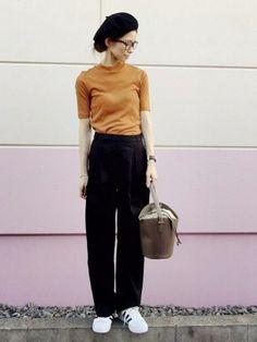 non|ROSE BUDのハンチング/ベレー帽を使ったコーディネート - WEAR Japan Fashion, Look Fashion, Timeless Fashion, Daily Fashion, Hijab Fashion, Paris Fashion, Girl Fashion, Autumn Fashion, Womens Fashion