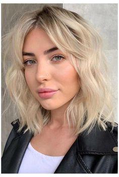 Blonde Bob Hairstyles, Short Bob Haircuts, Haircuts With Bangs, Summer Hairstyles, Medium Hairstyles With Bangs, Short Hairstyles With Bangs, Hairstyles For Short Hair, Bang Haircuts, Braided Hairstyles