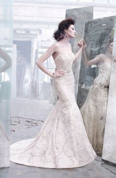 Sweetheart Mermaid Wedding Dress  with Natural Waist in Tulle. Bridal Gown Style Number:32536500