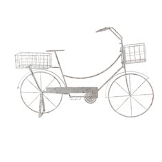 Studio 350 Rustic Iron Bicycle Planter With Stand, White #74849, Outdoor  Décor