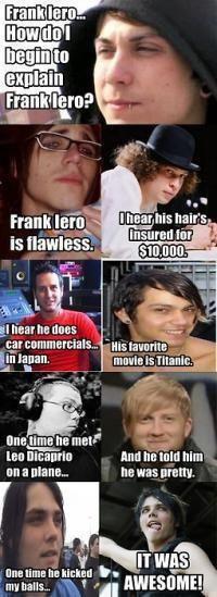 Explaining Frank Iero.