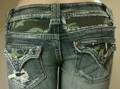 JP4221-Boot-Camo-Tri-Flap-Pocket-Designer-Jeans-by-Miss-Me-Size-26