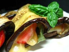 Veggin Cookbook Chronicles Doubt: Eggplant, Smoked Mozzarella and Basil Rolls