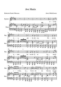 Ave Maria by Michal Lorenc - Sheet Music This is one of the most beautiful versions of Ave Maria that I have heard: