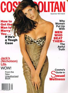 September 1994 cover with Stephanie Seymour photographed by the late Francesco Scavullo