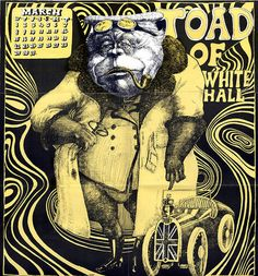 """OZ Magazine, Issue 2 (March 1967)  """"Toad of White Hall"""" by Martin Sharp"""