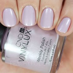 CND Vinylux Lavender Lace | Summer 2016 Flirtation Collection | Peachy Polish