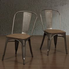Tabouret Vintage Wood Seat Bistro Chair | Overstock™ Shopping - Great Deals on Dining Chairs