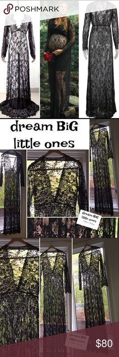 Selling this Black lace maternity maxi dress Photo prop shower! on Poshmark! My username is: dreambiglittle1. #shopmycloset #poshmark #fashion #shopping #style #forsale #Dream BiG Boutique #Dresses & Skirts