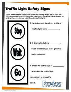 Printables Pedestrian Safety Worksheets life skills safety and on pinterest