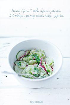 Cucumber Salad with Yoghurt & Mint