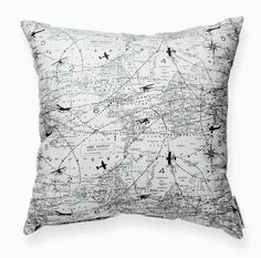 Black and White Accent Pillows Inspirational Aviation Pattern Decorative Throw Pillow In 2019