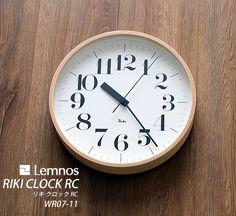 【楽天市場】【ポイント10倍】 掛け時計【送料無料】Lemnos レムノス riki clock RC リキクロック WR07-11 電波時計 電波 壁掛け時計 掛時計 デザイン時計 インテリア時計 渡辺力 北欧 おしゃれ 楽天 224389:楓奏(ナチュラル雑貨かえでそう)