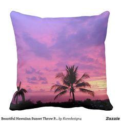 Beautiful Hawaiian Sunset Throw Pillow