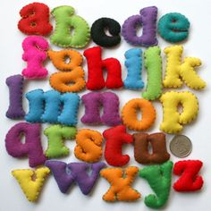 Stuffed Felt Letters : I think I could easily make my own which could be fun