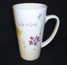 Life Is Good Large Floral Coffee Cup #LifeisGood