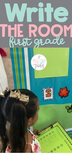 First Grade Literacy Center Ideas and Write the Room Center set up
