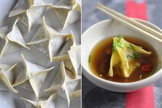 Mushroom, chilli and cabbage dumplings in broth « Cooking Blog – Find the best recipes, cooking and food tips at Our Kitchen.