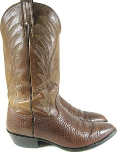 Norcona Men Western Boots Size 10 C Brown Style 39177 Made USA.  GAG 22 #Norcona #CowboyWestern